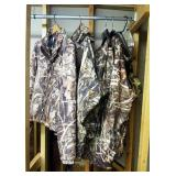 Camouflage Hunting Apparel, Including Columbia, PHG, OmniTech, Jackets, Overalls, And Pullover, Size