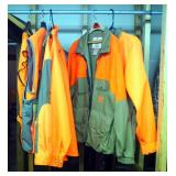 Safety Orange Hunting Apparel, Including Columbia Insulated Jacket, BirdNLite, Carhartt, And Dunn