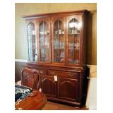 """Solid Wood 2 - Piece China Cabinet, 78"""" x 62"""" x 21"""""""