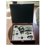 Tesoro 9 Piece Wine Bottle Opener Set, Includes Corkscrew, Stopper, Foil Cutter, And More, In Wood C