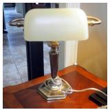 """28"""" Table Lamp With Tapered Square Shade And Desk Lamp, 15.5"""""""