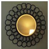 "Contemporary Round Metal Wall Mirror , 29"" X 29"""