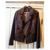 Womens Large Brown Cord Mink Reversible Leather Coat With Appraisal, And Womens Leather Jacket