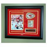 Framed 1988 Dick Butkus Award, Kansas City Chiefs Derrick Thomas, Includes Certificate Of Authentici