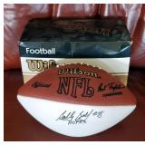 Autographed Bobby Bell #78 1983 Hall Of Fame Inductee Wilson Football With Box