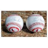 Autographed Lou Brock St. Louis Cardinals Baseballs, Qty. 2
