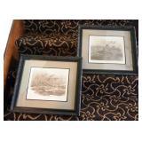 "Ducks Unlimited Inc. Framed Art By Barney Anderson, 20"" x 18"", Qty 2"