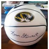 Autographed Missouri Tigers Basketball, Signed By Norm Stewart And Kim Anderson