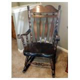 """Solid Wood Rocking Chair, 43"""" x 26"""" x 31"""""""