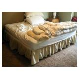 Queen Size Sleep Number Bed With Adjustable Base, Powers On, Includes 4 Pillows, Comforter, Sheets,