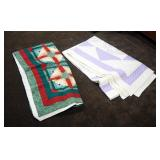 """Vintage Hand Stitched Quilts, Qty 2, 80"""" x 80"""", And 94"""" x 76"""""""