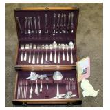 Prestige Silver Plate Flatware Set, In Felt Lined Storage Box, 92 Total Pieces