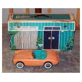 Vintage Barbie Dreamhouse With Accessories, Convertible Car, And Assorted Barbie Dolls