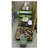 Ball Wide Mouth 16 Oz Canning Jars, Qty 4 Flats, Court Jars, Qty 2 Flats, Lids, And Self-Sealing Can