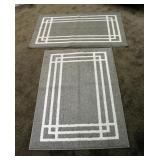 """Wooven Rubberback Area Rugs, Qty 2, Measures 30"""" x 45"""""""