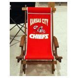 Kansas City Chiefs Wood Framed Folding Lounge Chair