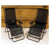 Gander Mountain Adjustable Folding Lounge Chairs With Mesh Seats, Qty 2