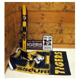 University Of Missouri Painted Wall Mounted Ski, Fan Cave Sign, Flag, And Tigers Canvas Wall Art