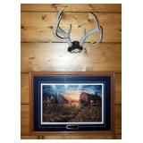 """Framed Matted Under Glass, """"Days Gone By"""" Jim Hansel, Signed And Numbered By Artist, 2368/4900, 23"""""""
