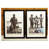 """Framed Under Glass Humorous Waterfowl Prints, Qty 2, 23"""" x 17"""""""