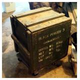 "Beta Chemicals Inc. Black Powder Explosive Wood Storage Box, 21"" x 19"" x 22"""