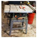 Craftsman Electric Table Saw, Model 137.248880, On Stand