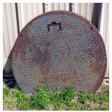 "Steel Manhole Covers, 41.5"" Diameter, Qty 3"
