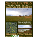 ONLINE ABSOLUTE AUCTION of 32 ACRES IN 4 TRACTS