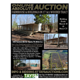 Online Absolute Auction - Farmhouse & Buildings on 17 Acre Wooded Tract