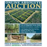 ONLINE ABSOLUTE AUCTION: 5 Lots in Ridgedale Farms Subdivision