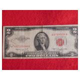 1953 $2 Red Note