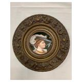P16--framed porcelain plate