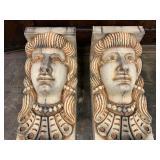 P30--pair of sandstone corbels, capitals, Roman revival