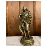 P49--bronze statue of an Elizabethan gentleman, late 19th/early 20th C, Continental--$300