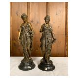 P0059-A and P0059-B--Demeter and Diana--bronze--$250/each