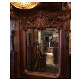 F0145--walnut mirror, 19th C--$2800