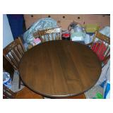 pedestal table, with 6 chairs