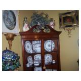 one of 2 corner cabinets