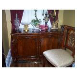 one of 2 Jansen Chippendale commodes