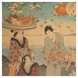 Utagawa Kunisada II 1823-1880 Japanese oban woodblock. c. 1853-1857 GC2A