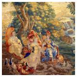 Lot 5243927: Flemish Mythological Garden Tapestry, Brussels, Belgium, 18th Century