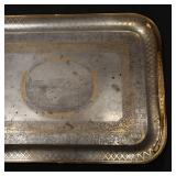 Lot 5243926: Large Russian Parcel Gilt Steel Presentation Tray, Tula, 1843