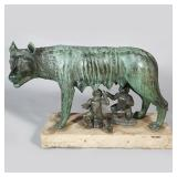 "Lot 5246637: Italian Bronze Sculpture, ""The Capitoline Wolf"", Romulus and Remus"