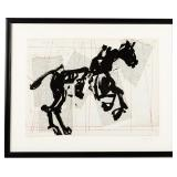 William Kentridge (NY/South Africa, b. 1955), Horse (Universal Archive), Linocut, 2012
