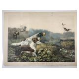 Currier and Ives (Publisher): American Field Sports - A Chance For Both Barrels, 1857