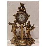 Figural Victorian Clock