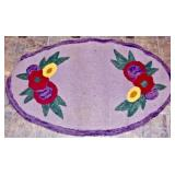 Oval Hand Hooked Rug 34""