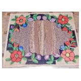 Floral Hand Hooked Rug 29""