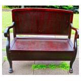 Clawfoot Mahogany Bench