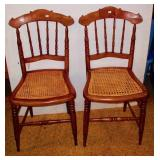 Pair of Cane Seat Chairs